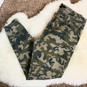 Forever 21 Camouflage Zipper Jeans